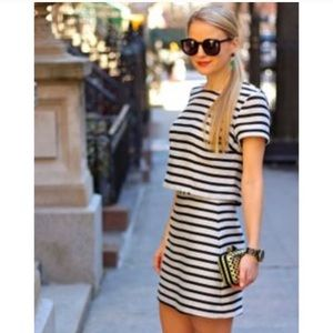 Striped Co-ord skirt and top set